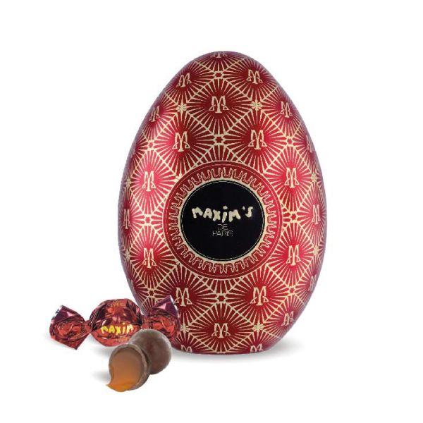 Rotes Ei - Vollmilchschokolade mit Karamell